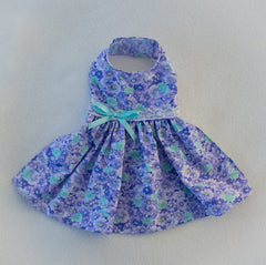 Purple and Aqua Daisy Dress