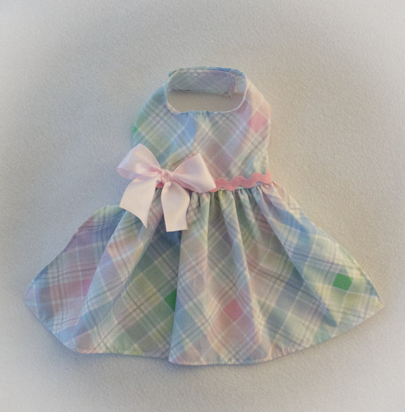 Pastel Spring Plaid Dress