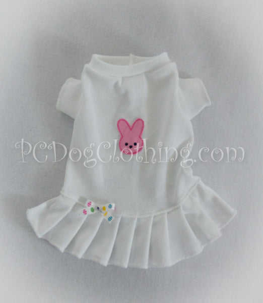 Pink Marshmallow Bunny T-Shirt Dress