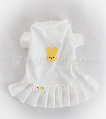 Yellow Marshmallow Bunny T-Shirt Dress