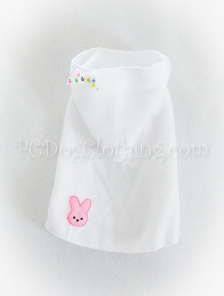 Pink Marshmallow Bunny Hoodie Dress