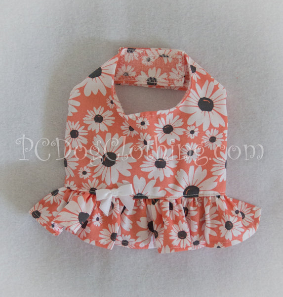 Peach and Gray Daisy Summer Shirt