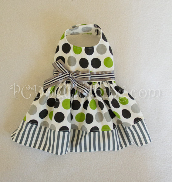 Green and Silver Dog Dress