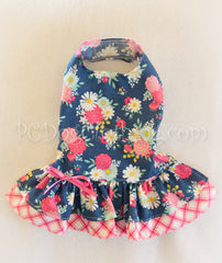 Summer Blue and Pink Floral Dress