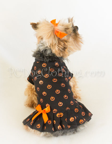 Shiny Pumpkins Halloween T Shirt Dress