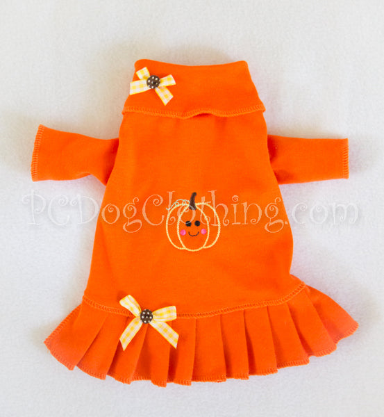 Jack O' Lantern Turtleneck Shirt Dress