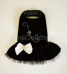 Black Velvet Swarovski Dress