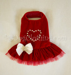 Red Velvet Swarovski Dress
