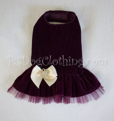 Royal Purple Velvet Dress