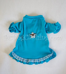 Aqua Nightgown Long Sleeves