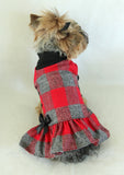 Soft Red Plaid Dress (Almost Gone)