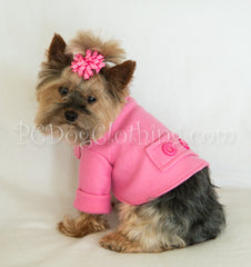 Pink Fleece Coat