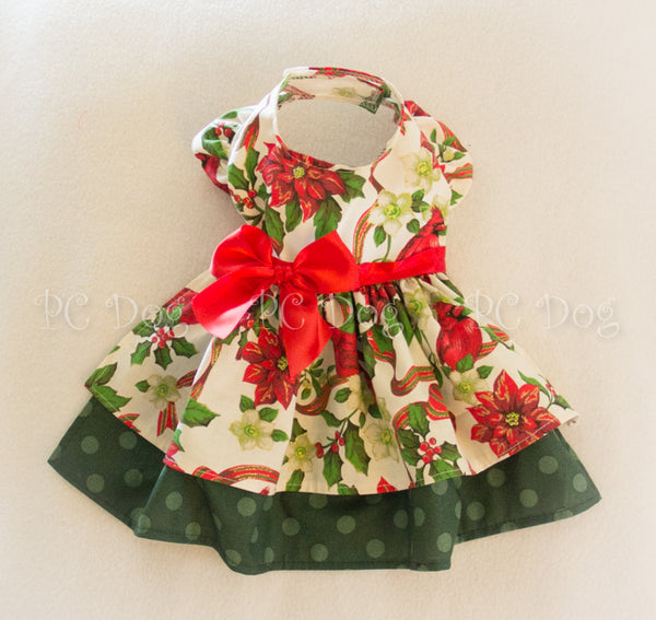 Christmas Cardinal Poinsettia Dress