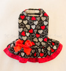 Doodle Hearts Dress (Clearance)