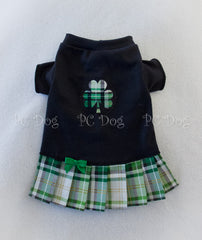 Plaid Shamrock T Shirt Dress