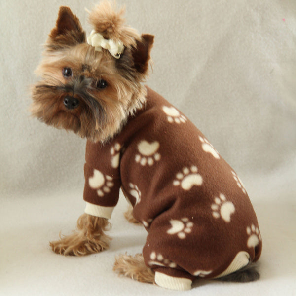 Brown Paw Print Pajamas