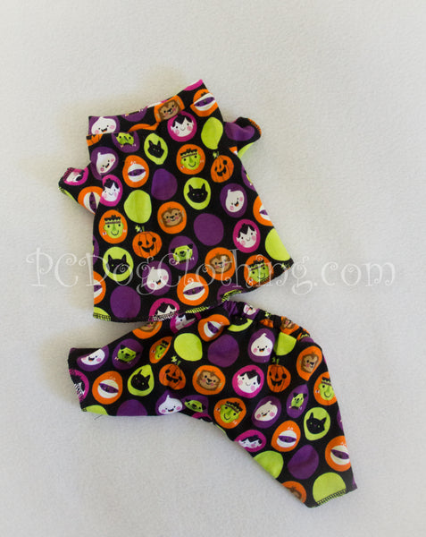 Halloween Faces Knit 2 Piece Pajamas