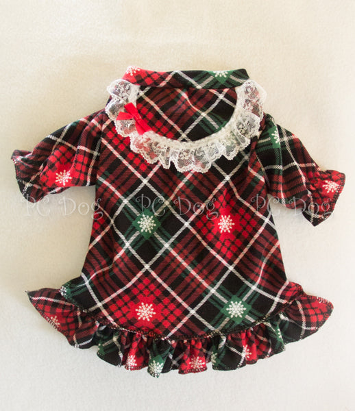 Christmas Plaid Nightgown