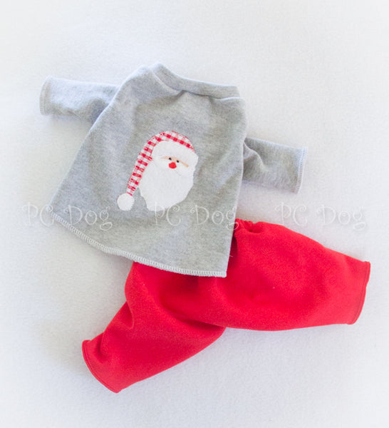 Santa Knit 2 Piece Christmas Pajamas