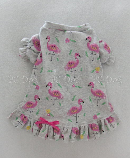 Pink Flamingo Nightgown Short Sleeves