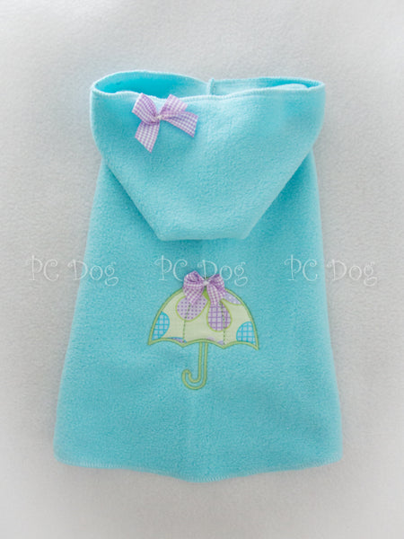Aqua April Showers Hoodie Dress