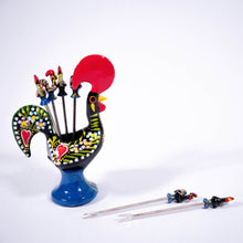 Load image into Gallery viewer, Galo de Barcelos _ Tapas Set 12cm Black