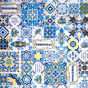 Casa Portuguesa Blue and Yellow  _ Fabric by Yard