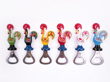 Load image into Gallery viewer, Galo de Barcelos _ Bottle Opener Magnet 11cm Green