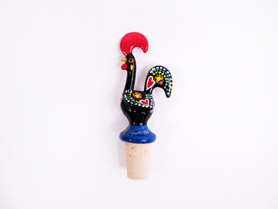 Galo de Barcelos _ Cork Stopper 11cm Black