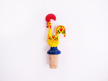 Load image into Gallery viewer, Galo de Barcelos _ Cork Stopper 11cm Yellow