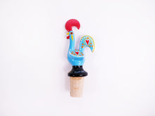 Load image into Gallery viewer, Galo de Barcelos _ Cork Stopper 11cm Blue