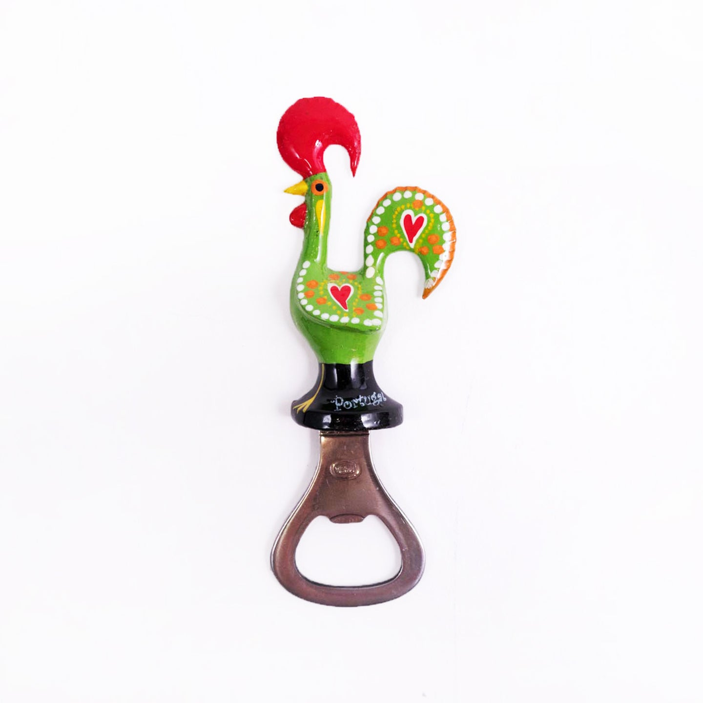 Galo de Barcelos _ Bottle Opener Magnet 11cm Green