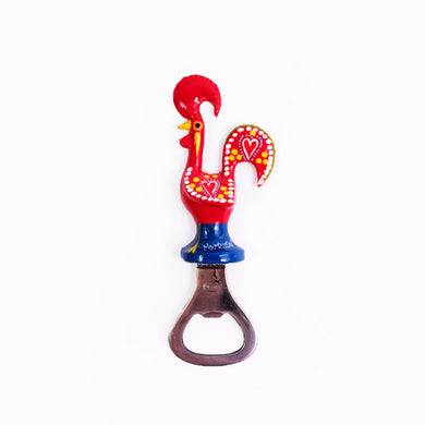 Galo de Barcelos _ Bottle Opener Magnet 11cm Red
