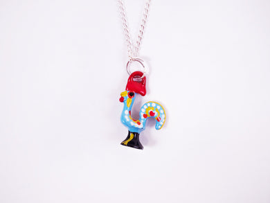 Barcelos Rooster _ Necklace Blue