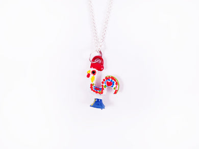 Barcelos Rooster _ Necklace White