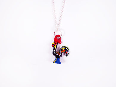 Barcelos Rooster _ Necklace Black