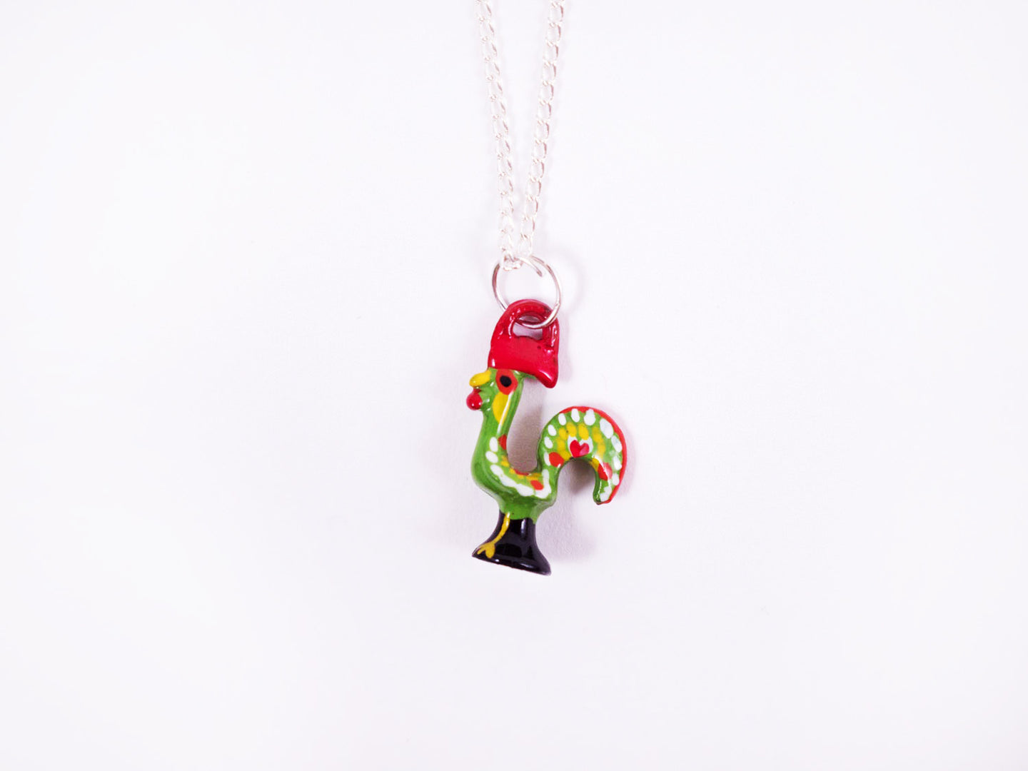 Barcelos Rooster _ Necklace Green