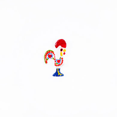 Barcelos Rooster _ Lapel Pin _ White