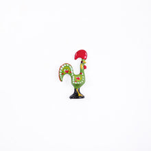 Load image into Gallery viewer, Barcelos Rooster _ Lapel Pin _ Green