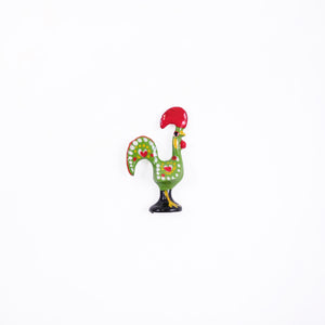 Barcelos Rooster _ Lapel Pin _ Green