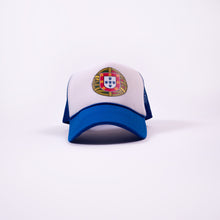 Load image into Gallery viewer, Portugal Escudo _ Trucker Hat - Blue