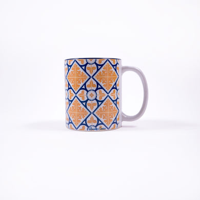 Diamond Flower Azulejos _ Mug