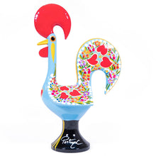 Load image into Gallery viewer, Galo de Barcelos Rooster _ 35cm Metal _ Blue