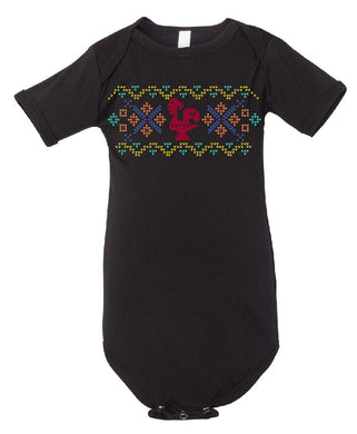 Fair Isle Luís _ Baby Bodysuit Black