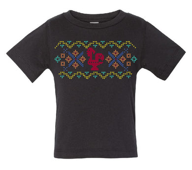 Fair Isle Luís _ Toddler Tee Black