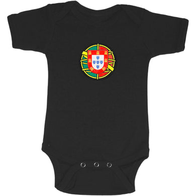 PROUD Flag Shield _ Baby Bodysuit Black