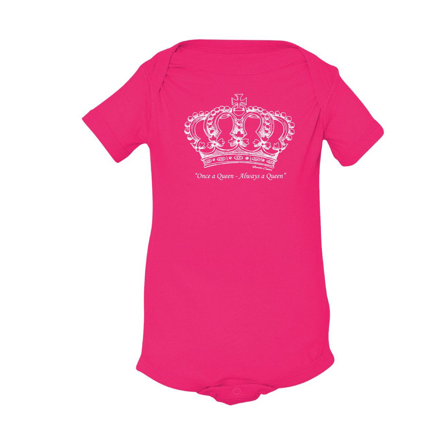 Once a Queen, Always a Queen _ Baby Bodysuit Berry