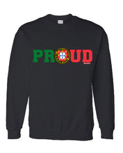 Load image into Gallery viewer, PROUD Portuguese  _ Pullover Black