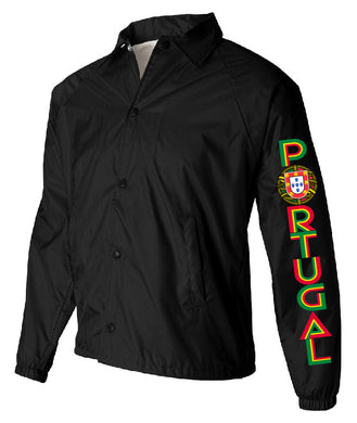 Old School Portugal _ Coach Jacket Black