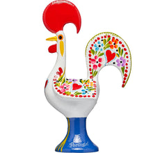 Load image into Gallery viewer, Galo de Barcelos Rooster _ 25cm Metal _ White